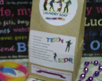Teen Scene SPECIAL--VEGAN Laundry Detergent Soap--Specially made Just for TEENS--64 to 128 Loads--You choose your Favorite Scent