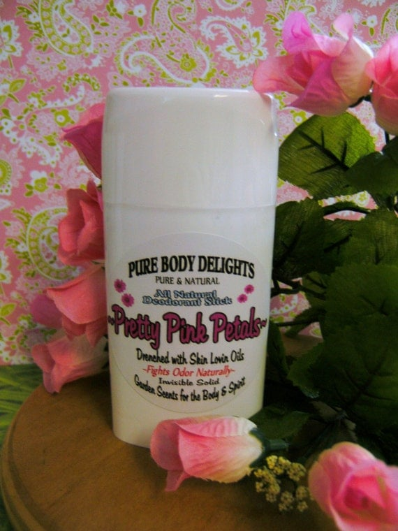 Pretty Pink Petals--All Natural VEGAN Deodorant,Loads of Skin Lovin Oils and Butters--Made from Scratch