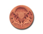 Scottish Thistle Ceramic Cookie and Clay Stamp