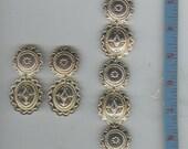 Vintage Premier Designs Western Concho Earrings and  Bracelet Set