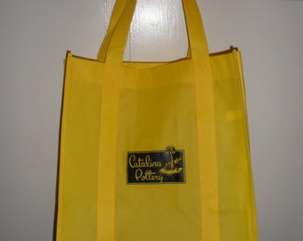 Old Catalina Island Pottery Lable Shopping Bag