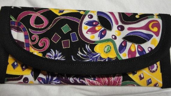 Louisana gift to Mardi Gras Fabric, Bags & Purses Wallet Money clip Pouch coin Purse Accessory 7 x 3 Vacation Trip March Women Girls Teens