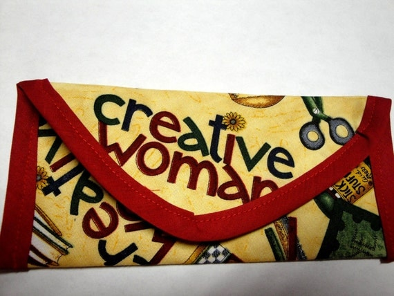 Creative Women, sewing, Crafts, Painting Fabric, Wallet gift of Money, Clutch bag, Envelope, Purse