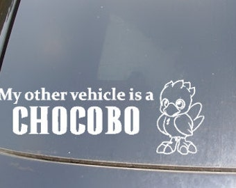 My Other Vehicle is a Chocobo Car Sticker