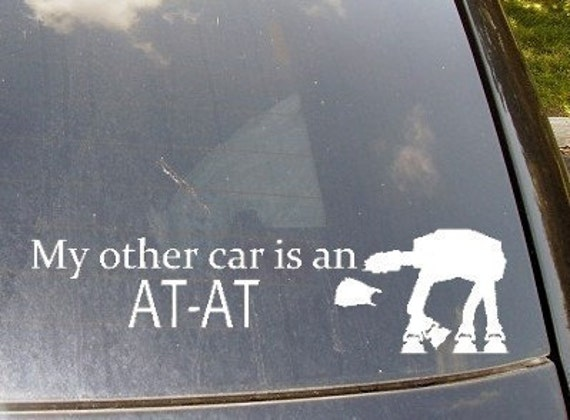 My Other Car is an AT-AT Car Sticker