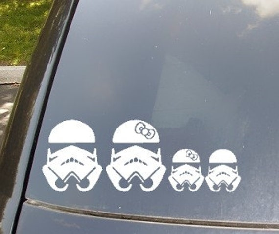 Stormtrooper Family Car Sticker Now with Stormtrooper Cat and Dog