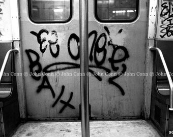 NYC Subway Photo 1980s - Pole by TheConnArtist
