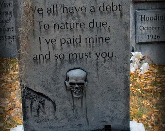 A debt to pay - epitaph