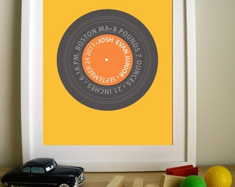 Retro Vintage Personalized LP - Remember the Time LP 8.5X11 Inches, other sizes