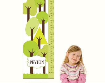 """Canvas Growth Chart - Nature's Child- 13"""" X42"""" Inches, Free Personalization"""
