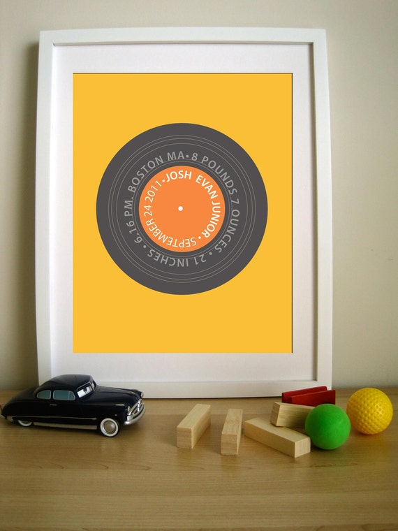 Retro Vintage Personalized LP - Remember the Time LP 11X14 Inches, other sizes