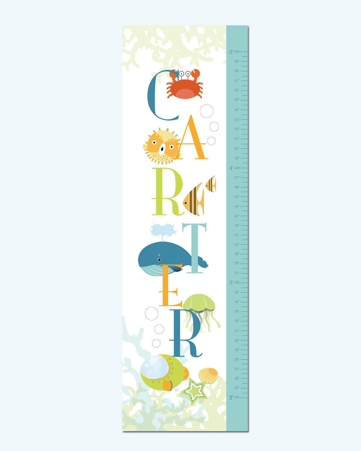 Height Chart In Feet Growth chart height chart on