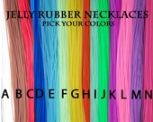 Rubber Jelly Cord necklaces - QTY 100 - You Pick your Colors