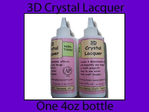 Item 133 - One bottle of 3D Crystal Lacquer