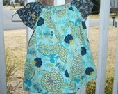 Turquoise Blue Peasant Top