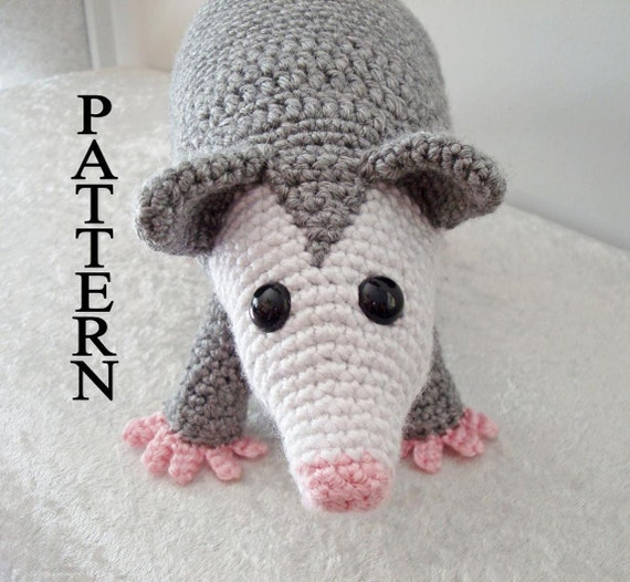 Opossum Crochet Pattern Possum Woodland Amigurumi Animal Digital Download Crochet Pattern Adobe Pdf File