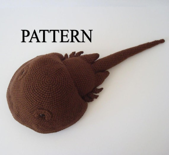 Horseshoe Crab Crochet Pattern Amigurumi Horseshoe Crab Ocean Animal Digital Download Crochet Pattern Stuffed Horseshoe Crab Pattern Pdf