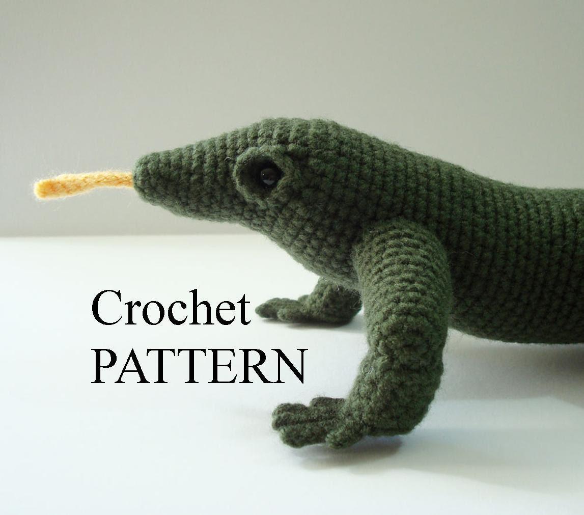 Komodo dragon crochet pattern amigurumi komodo dragon stuffed zoom bankloansurffo Images