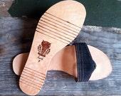 Recycled Denim Flip Flops- Flat Sandal