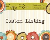 Reserved Custom Listing for Candice Marcussen Only.