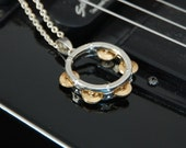 Tambourine Pendant Necklace
