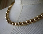 1980s Park Lane Gold Bead Choker - Mint Condition Classic