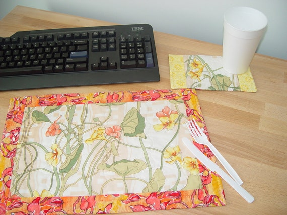 FLOWERS Placemat Office Lunch Set