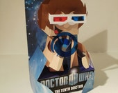 Doctor who ( 10th doctor ) boxed paper toy sculture
