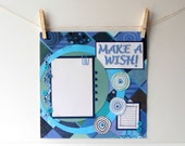 12x12 Premade Scrapbook Page Boys Birthday Blue Geometric