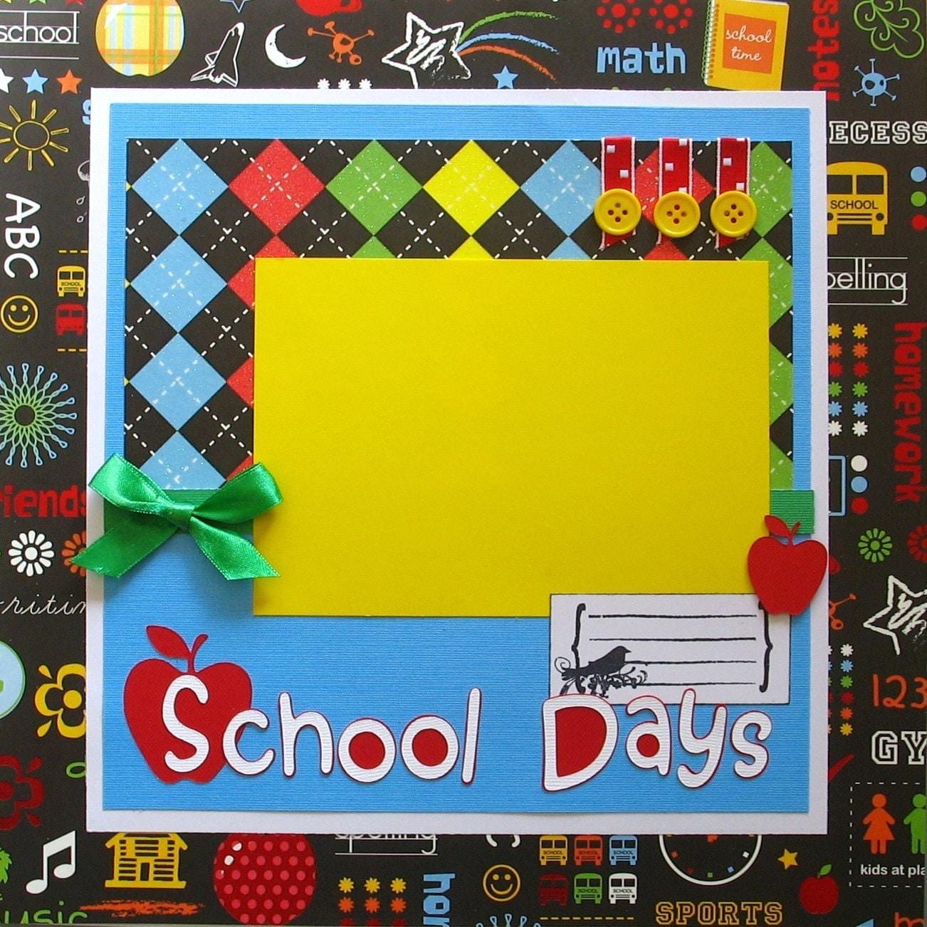 Scrapbook ideas school -  Zoom