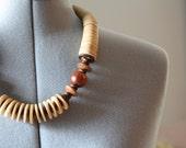 Vintage Wooden Tribal Necklace
