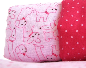 Pink Dogs Baby Blanket
