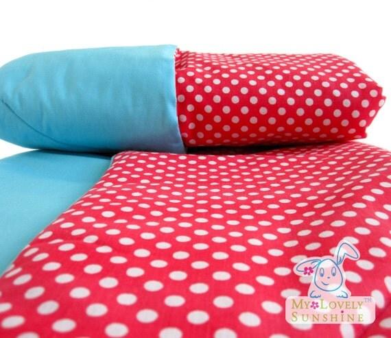 Red Polka Dot Baby Blanket