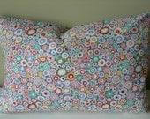 """Travel Pillow Case 12x18"""" - Kaffe Fassett Grey Roman Glass fabric"""