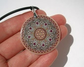 Pale Purple/Gray Abstract Ornament Necklace Polymer Clay