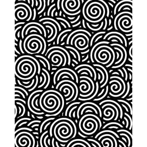 Silk Screen, Swirls, No. 083