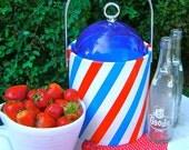 Vintage Retro Patriotic Ice Bucket