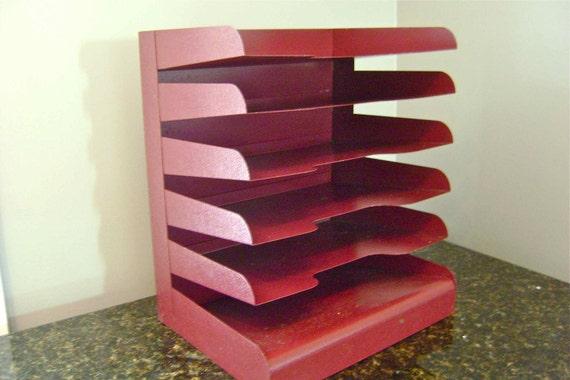 VintagenIndustrial Metal File Paper Sorter Organizer 6 tier