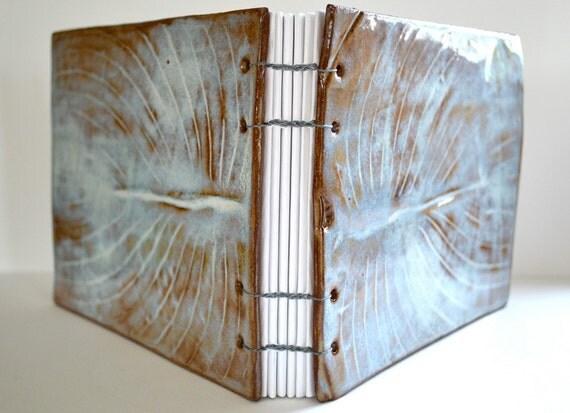 hosta leaf clay guest book