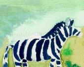 Zebra ACEO Print