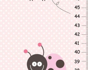 Personalized Love Bug Canvas Growth Chart