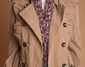 JulyS Light brown trench with shoulder flare J033 -SALE