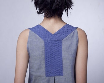 Constructured blue dress (AS006)