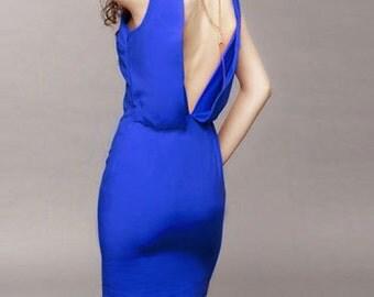 Spring blue short dress (JS127)