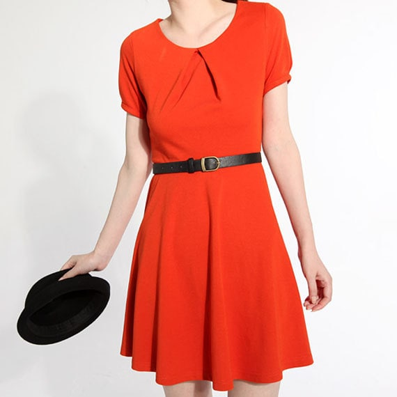 Dark orange dress (JS057)