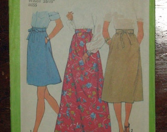 Simplicity 8295 Skirt Vintage Pattern