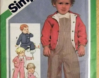 Simplicity 9820 Toddler Overalls and Jacket Pattern