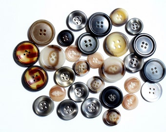 Lot of Vintage Tortoise Shell and Marbled Buttons