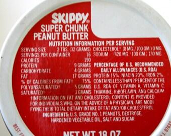 Skippy Peanut Butter Vintage Glass Ball Jar