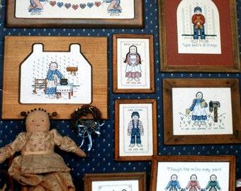 Prairie Friends Cross Stitch Patterns Booklet Vintage